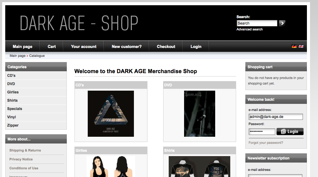 Click to enter the Dark Age Shop